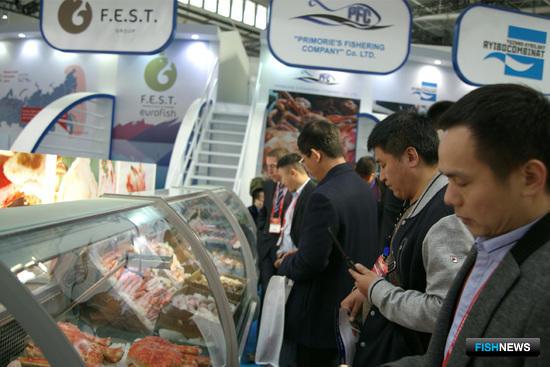 Национальный стенд Российской Федерации привлекал повышенное внимание на China Fisheries and Seafood Expo - 2016