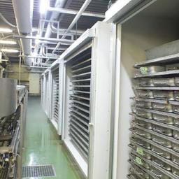 Остров Кунашир, Южно-Курильский рыбокомбинат. Суммарная мощность системы заморозки 200 тонн/сутки и аммиачный холодильник на 1500 тонн