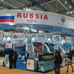 Повышенное внимание гостей и участников Международной выставки рыбы и морепродуктов в Циндао привлекла масштабная и яркая экспозиция Российской Федерации
