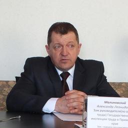 Заместитель руководителя Государственной инспекции труда в Приморском крае Александр МАЛИНОВСКИЙ