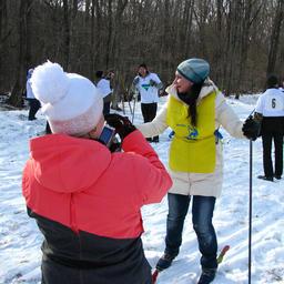 Бронзовый призер лыжной гонки – преподаватель ВМРК Дарья ЛОГИНОВА – после финиша