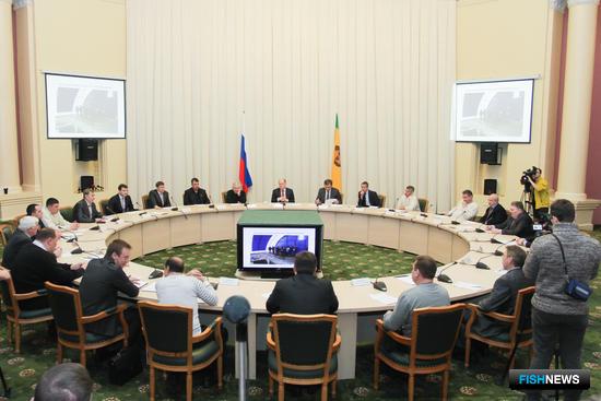 Совещание по вопросам рыбного хозяйства в Пензенской области. Фото пресс-службы правительства региона.