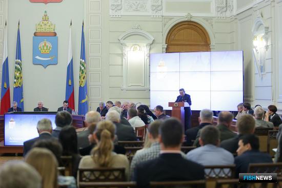 Расширенное заседание общественной палаты Астраханской области. Фото пресс-службы губернатора