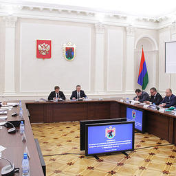 Совещание по вопросам развития регионального рыбохозяйственного комплекса Республики Карелия. Фото пресс-службы правительства региона