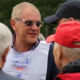 Андрей КРАЙНИЙ на рыболовном фестивале в Самаре в 2012 г.