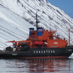 Ледокольно-спасательное судно «Сибирский». Фото сделано членами экипажа