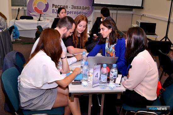 На площадке World Food Moscow прошли переговоры эквадорских экспортеров с отечественными ретейлерами. Фото предоставлено торговым представительством Эквадора в Москве