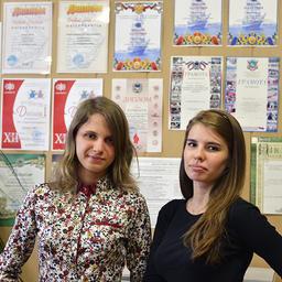 Студентки Дальрыбвтуза Ульяна ШИШКИНА и Полина ВОЛЯНСКАЯ. Фото предоставлены информационно-аналитическим отделом университета.