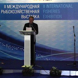 Руководитель Росрыболовства Андрей КРАЙНИЙ на открытии выставки