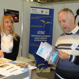 Стенд WWF России на 1-й Международной комплексной выставке «Мировой океан 2011»