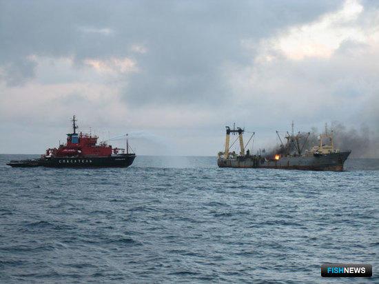 С 1995 г. спасатели оказали помощь 835 судам рыбопромыслового флота