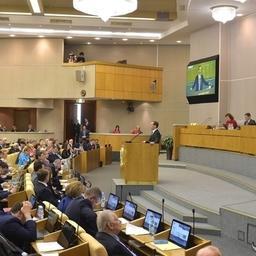 Премьер-министр Дмитрий МЕДВЕДЕВ выступил с отчетом в Госдуме. Фото пресс-службы Правительства