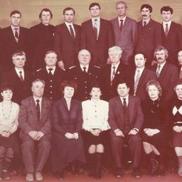 Делегация краевой организации профсоюза работников рыбного хозяйства на XVII Приморской краевой межсоюзной конференции. Декабрь 1989 г.