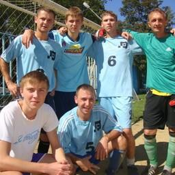 Чемпионы спартакиады по футболу - спортсмены ОАО Дальрыба