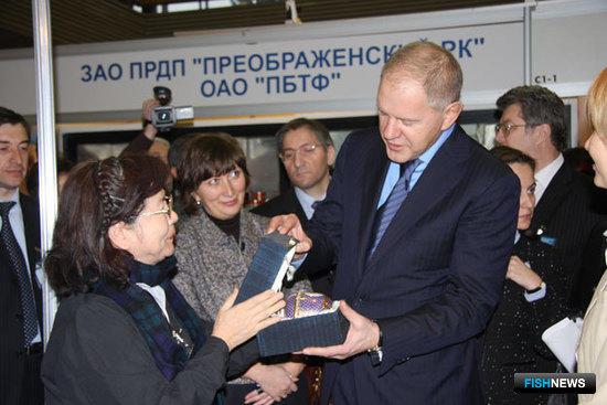 Руководитель Росрыболовства Андрей КРАЙНИЙ на 4-й Международной рыбопромышленной выставке «Рыбпромэкспо 2008».