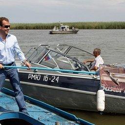 Президент РФ Дмитрий МЕДВЕДЕВ с рабочей поездкой посетил Астраханскую область. Фото – пресс-службы Президента России.