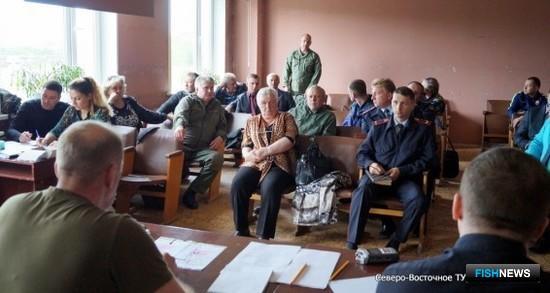 На Камчатке в селе Усть-Большерецк состоялось выездное заседание объединенного штаба по борьбе с браконьерством. Фото пресс-службы Северо-Восточного теруправления Росрыболовства