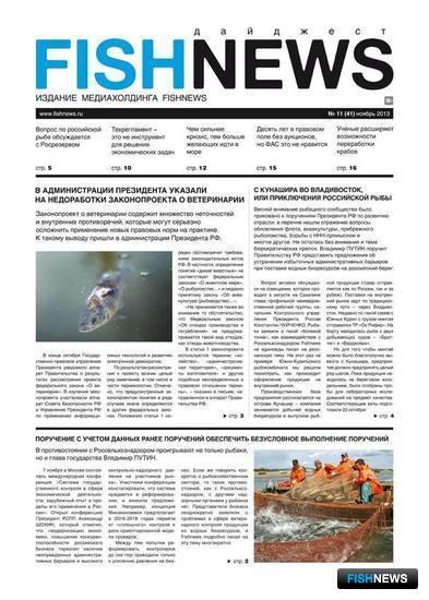 """Газета """"Fishnews Дайджест"""" № 11 (41) ноябрь 2013 г."""