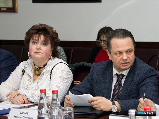 Людмила Чикина (Роспотребнадзор) и Михаил Орлов (Минсельхоз)