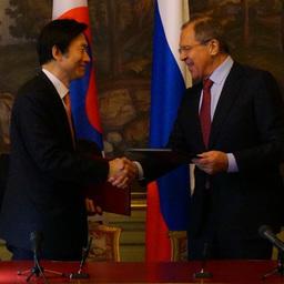 Министр иностранных дел Республики Корея Юн Бён Се и его российский коллега Сергей Лавров. Фото пресс-службы МИД РФ