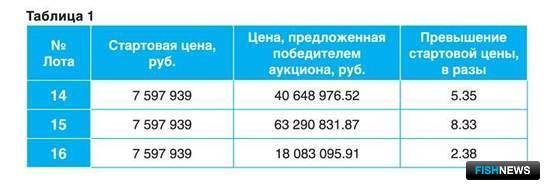 По результатам аукциона было получено 255 млн. руб. Всю прибыль аукциона принесла продажа трех лотов
