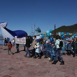 Праздник открылся шествием в защиту морских млекопитающих. Фото пресс-службы правительства Камчатки