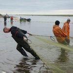 Рыбаки на лососевой путине. Камчатский край