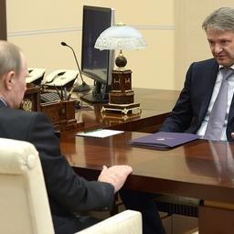Глава государства Владимир ПУТИН провел встречу с министром сельского хозяйства Александром ТКАЧЕВЫМ