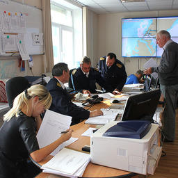 Организаторы учений заявили о выполнении всех поставленных задач. Фото ФГБУ «Администрация морских портов Приморского края и Восточной Арктики»