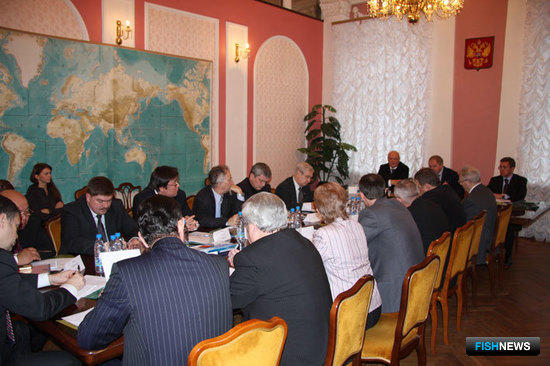 Первое заседание Общественного совета при Росрыболовстве. Москва, декабрь 2008 г.