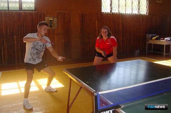 Чемпионы спартакиады, теннисисты ПБТФ Владимир БРИНЕНКО и Ирина МАРКОВЦЕВА