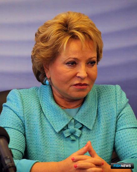 Председатель Совета Федерации Валентина МАТВИЕНКО. Фото пресс-службы правительства Камчатского края.