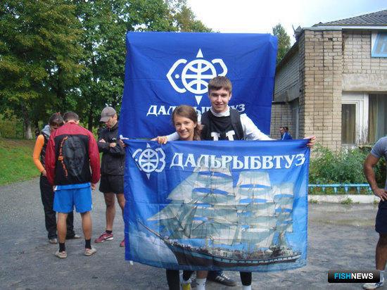 Профсоюзный лидер студентов Дальрыбвтуза Аня Ющенко – руководитель спортивной делегации