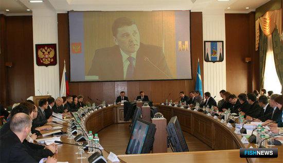 Выступает заместитель председатель Правительства Сахалинской области Сергей КАРЕПКИН