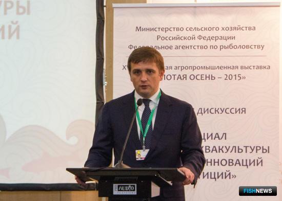 Руководитель Росрыболовства Илья ШЕСТАКОВ на панельной дискуссии «Потенциал российской аквакультуры для бизнеса, инноваций и инвестиций»