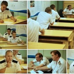 После выхода из Эмдена курсанты приступили к сдаче квалификационных экзаменов. Фото Александра Кучерука.