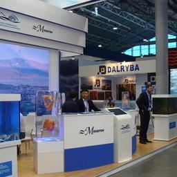 Стенд сахалинской группы компаний ПРК на Выставке рыбной индустрии, морепродуктов и технологий в Санкт-Петербурге