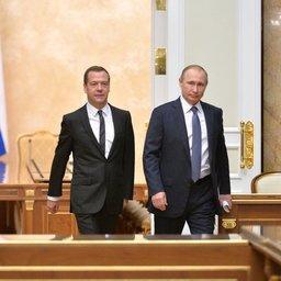 Премьер Дмитрий МЕДВЕДЕВ и президент Владимир ПУТИН. Фото пресс-службы президента РФ.