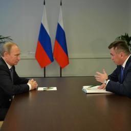 Президент Владимир Путин провел беседу с губернатором Приморья Владимиром Миклушевским о положении дел в рыбной отрасли. Фото пресс-службы администрации края