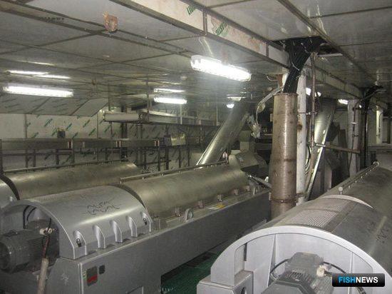 Декантерные центрифуги «Альфа Лаваль» в установке для производства сурими