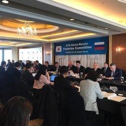 В Сеуле открылась 27-я сессия российско-корейской комиссии по рыбному хозяйству. Фото пресс-службы Росрыболовства
