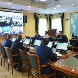 Первое заседание штаба лососевой путины прошло в Росрыболовстве. Фото пресс-службы ведомства