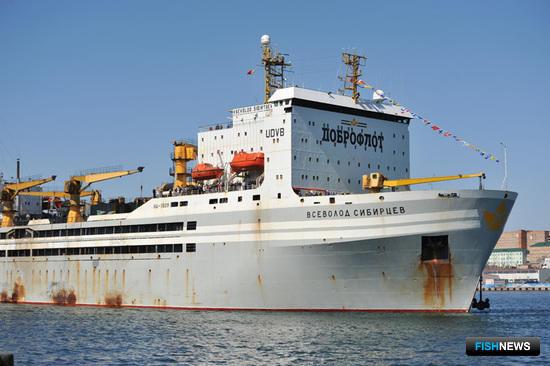 В порту Владивостока торжественно ошвартовался знаменитый плавзавод «Всеволод Сибирцев»