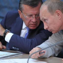 Председатель Правительства РФ Владимир Путин и первый вице-премьер Виктор Зубков (фото пресс-службы Правительства России)