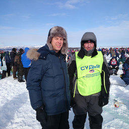 Главный судья – замруководителя Росрыболовства Василий Соколов (слева)