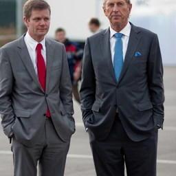 Генеральный директор компании «Уренхольт» в России Йорн Педерсен, основатель ГК «Уренхольт» Франк Уренхольт