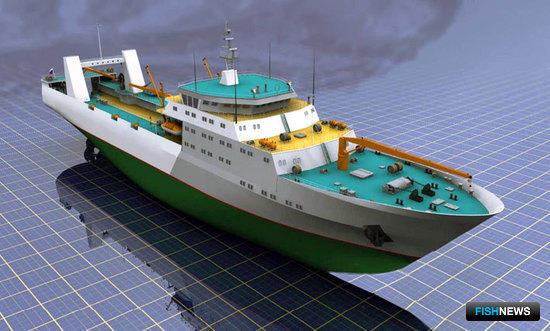 Многофункциональный большой морозильный рыболовный траулер для океанического промышленного рыболовства (проект 11480 - КБ «Восток» ОАО «ЦТСС»))