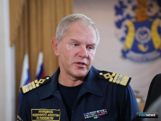 Руководитель Росрыболовства Андрей КРАЙНИЙ. Фото – пресс-центра КГТУ.