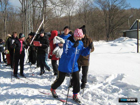Старт известной лыжницы ПБТФ Веры Притуляк