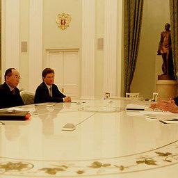 Владимир Путин встретился с акционерами компании «Сахалин Энерджи»